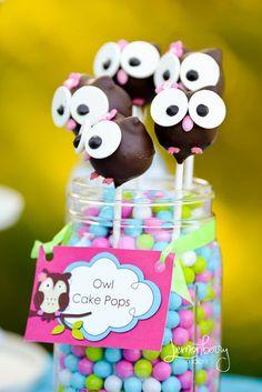 Owl Cake Pops - Forever Your Prints
