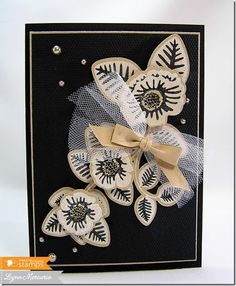 Dark elegance with this card created using new Waltzingmouse Stamps' images.