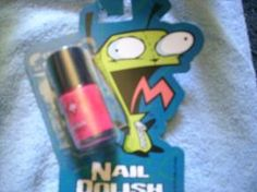 Invader Zim Nail Polish  This hot pink Invader Zim nail polish makes a perfect addition to your cosmetic case. Gir in dog suit is featured on the bottle.  Net .50 fl oz (15ml)  New on carded package.  Free Shipping  This product is part of my Yard! Her...
