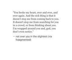as soon as my heart stops breaking