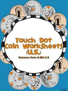 Coin Touch Dot Worksheets Pack Teaching Money, Teaching Special Education, Tools For Teaching, Teaching Math, Teaching Ideas, Money Activities, Math Resources, Classroom Activities, Classroom Ideas