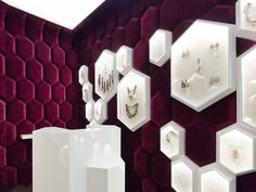 The Tailor Shop by Ippolito Fleitz Group (photo: Zooey Braun) Jewellery Shop Design, Jewellery Showroom, Jewelry Shop, Jewelry Stores, Gold Jewellery, Silver Jewelry, Jewelry Making, Showroom Interior Design, Retail Interior