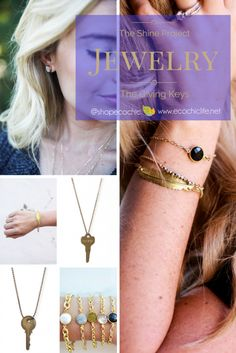 Jewelry is always the perfect gift for any occasion. We proudly offer bracelets, necklaces and earnings from The Shine Project & The Giving Keys.