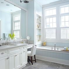 Mixing open and closed storage keeps a space interesting and encourages layering: http://www.bhg.com/bathroom/type/master/every-style-master-suites/?socsrc=bhgpin051414sunsoakedbathroom&page=2