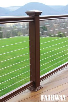 Fairway Fx2 Composite Railing with Cable Rail infill. Look for the entire Fairway Cable Rail