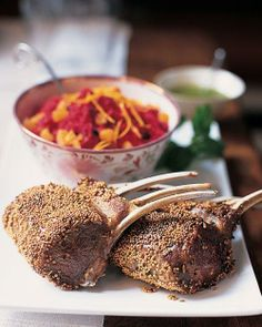Valentine's Day Menu // Spice-Crusted Rack of Lamb Recipe