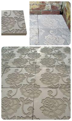 Jethro Macey embossed concrete tiles #lloydconcrete