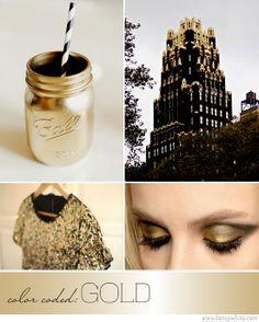 ColorCodedGoldNew...love the gold mason jar!