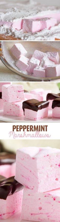 My friends insist that I make these peppermint marshmallows every winter. They're fantastic dipped in chocolate, even better in a mug of hot cocoa!