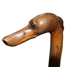 Victorian Dog Head Handle Walking Stick / Cane