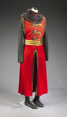 """From """"Robin Hood: Prince of Thieves"""" (1991) worn by Sean Connery as King Richard design by John Bloomfield"""