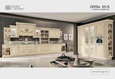 OPERA Klasszikus konyhabútorok Gallery Wall, Kitchen Cabinets, Toscana, Opera, Design, Home Decor, Opera House, Interior Design, Design Comics