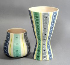 Poole Pottery freeform vases by robmcrorie, via Flickr