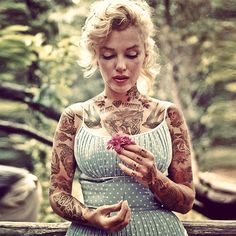 Old and comtemporary Celebrities covered in tatoos 2