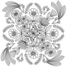 One of the 31 images from my new colouring book - this one is inspired by a mandala ♡ #illustration #design #colouringbook #coloringbook #coloringbookforadults #mandala #florawaycott