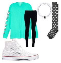 """Friends and Fun"" by lilybean4308 on Polyvore featuring Victoria's Secret, NIKE, The Limited and Converse"