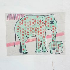 Nelly the elephant - paste up by @mintyonline . . . #brighton #brightonstreetart #streetartbrighton #streetarteverywhere #streetartphotography #streetart #pasteup #wheatpaste #elephant #mintyonline