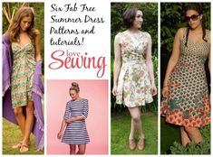 We've found six pretty summer dresses – all with free patterns and tutorials for you to sew up for summer!