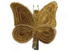 Ochre Butterfly Hair Clip