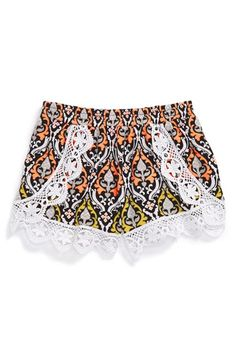 Flowers by Zoe Lace Shorts (Big Girls) available at #Nordstrom