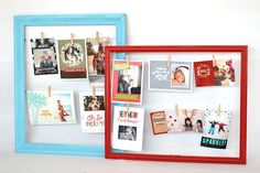 Holiday Frame Card Holder –  Give old frames a new life and show off your holiday cards with these upcycled card holders.