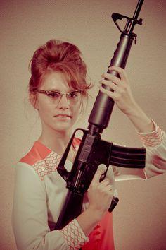 mevrouw met wapen