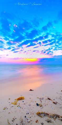 Beautiful sunset, sunrise, spot of orange light under blue ripples clouds, ripples Beautiful Sunset, Beautiful Beaches, Beautiful World, Beach Scenes, Belle Photo, Pretty Pictures, Nature Photography, Landscape Photography, Scenery