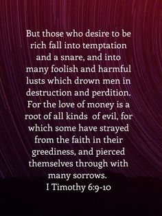 1 Timothy 6, Tamil Bible, Jesus Quotes, Holy Spirit, Christian Quotes, 9 And 10, Wise Words, Quotes To Live By, Lust