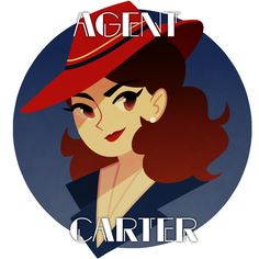 Red Hat || Peggy Carter || by Elizabeth || Agent Carter T-Shirt Contest || #fanart