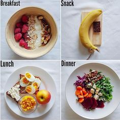 """Here are Five """"What I Eat in a Day"""" Meal Plan ideas *Swipe to see the Plans and below for full descriptions & calories x… - Health and Nutrition Facts Healthy Meal Prep, Healthy Snacks, Healthy Eating, Keto Meal, Nutritious Meals, Paleo Diet, Diet Recipes, Healthy Recipes, Healthy Tips"""