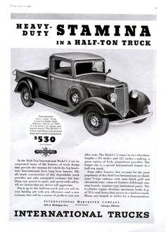 1936 International Truck Ad