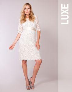 Lace Maternity Wedding Dress Cream