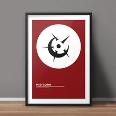 Mistborn Poster, Book Poster, Minimalist Poster, Flat Poster Design, Clean Poster Design, Digital Printable Poster