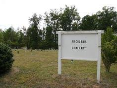 Richland Cemetery  Also known as: Richland Lutheran Cemetery  Liberty (Randolph County)  Randolph County  North Carolina  USA