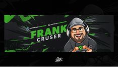 Social Media on Behance Header Design, Gaming Banner, Youtube Logo, Youtube Channel Art, Web Banners, Youtube Banners, Animation Reference, Text Effects, Type Setting