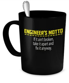 Engineer's Motto Mug  #gift#engineer $17.95