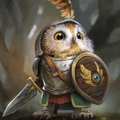 Knight Owl from Humblewood by Illustrator and Concept Artist leeshahannigan - - illustration owlart digitalart digitalillustration characterdesign Fantasy Character Design, Character Inspiration, Character Art, Character Concept, Mythical Creatures Art, Fantasy Kunst, Creature Concept, Fantasy Artwork, Fantasy Characters