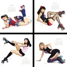 Roller Derby Pin Up Style. Bucket list become a derby girl Roller Derby Clothes, Roller Derby Girls, Roller Rink, Roller Skating, Skating Rink, Rockabilly, Quad Skates, Babe, Skater Girls