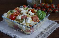 pennette alla caprese ricetta pasta fredda pomodorini mozzarella e basilico vegetariana veloce estiva
