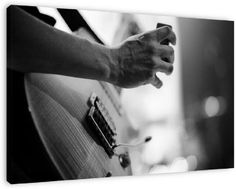Play Guitar op canvas, dibond of (ingelijste) poster print.