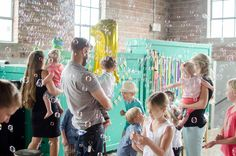 Must-have at a first birthday party? Bubbles!