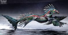 Sea of Monsters Hippocampi | Hippocampus desing for the movie Percy Jackson and the Sea of Monsters ...