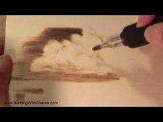 How To: Wood Burning a Bonsai Tree Design - YouTube