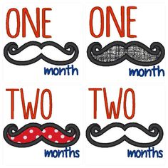 INSTANT DOWNLOADMonthly Mustache Applique by KitaleighBoutique, $12.00