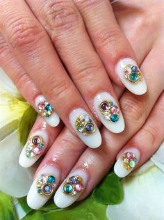 Jewelry Nails by NailsbyAyano from Nail Art Gallery Nail Designs 2017, Cute Acrylic Nail Designs, Nail Designs Pictures, Pretty Nail Designs, Cute Acrylic Nails, Cute Nails, Pretty Nails, Special Nails, Modern Nails