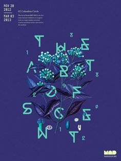 I like the color used in this poster. The teal stands out against the dark blue/purple.
