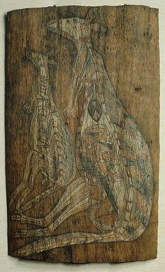 Aboriginal bark painting, c. Aboriginal Painting, Aboriginal Artists, Native Art, Native American Art, Aboriginal Culture, Masks Art, Australian Art, Indigenous Art, Egyptian Art