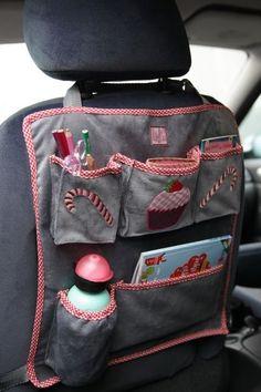 mama stadt Protector Asiento Trasero Coche Organizadores Coche Kick Mat Organizador de Coche Infantil Organizadores Coche Red Bolsa Almacenamiento Impermeable