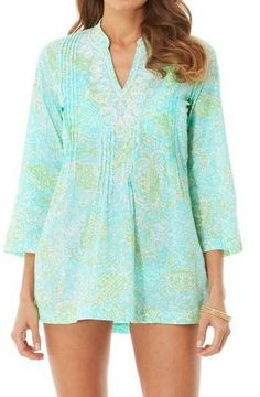 Lilly Pulitzer Sarasota Beaded Tunic in Get Crackin