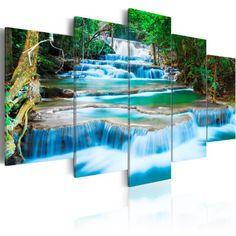 200x100 ! XXL Format + Bilder XXL & Fertig Aufgespannt & Top Vlies Leiwand + 5 Teilig + Landschaft + Natur + Wasserfall + Thailand + Baum + Wald + Wand Bilder 030212-101 + 200x100 cm B&D XXL +++ Riesen Bilder Kunstdruck Wandbild +++ B&D XXL http://www.amazon.de/dp/B00K1ANJ98/ref=cm_sw_r_pi_dp_wAkOvb180WW4B
